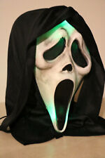 Lighted Easter Unliminted Ghost Face  Scream Mask Battery Opp Green Lights
