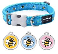 Red Dingo BUMBLE BEE Dog / Puppy Collar |  Engraved ID Tag | XS - LG | FREE P&P
