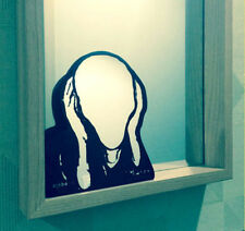 Munch Scream Self Portrait Shiny Acrylic Black Mirror Office Desk Fun Home Decor