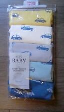 M&S Baby Boys Pack Of 5 short sleeve car bodysuits Tiny Baby 6lb 6oz 2.8kg bnip*