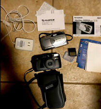 Lot Of 2 Cameras With Extras & Case Fujifilm Finepix 1400z And Ricoh Rz1000