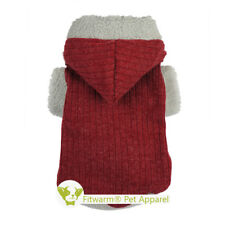 Fitwarm Xmas Red Dog Clothes Sweater Knitted Pet Coat Thermal Hoodies S Medium L