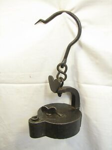 Antique Fine Hand Forged Whale Fat Oil Betty Lamp Wrought Iron Primitive Light