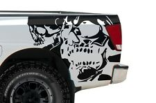 Vinyl Graphics Decal Wrap for Nissan Titan Truck 04-13 DOUBLE SKULL Matte Black