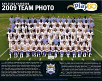 2009 2010 2011 2012 2013 2014 San Diego Chargers 8x10 team photo (Philip Rivers)