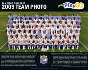 2009 2010 2011 2012 2013 2014 Chargers 8x10 team photo Philip Rivers L Tomlinson