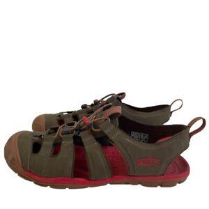 Keen Cascade CNX Sandals Mens Size 9.5 Brown Red Waterproof Outdoor Hiking