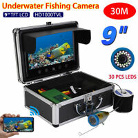 9in 30 LED 1000TVL Fish Finder Underwater Fishing Camera Sea/River Fishing 30m