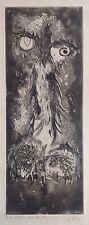 Gino GREGORI Rare Gravure Originale 1957 signée Braque Picasso L'oiseau 65x50cm