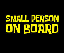 Small Person on Board Sign Sticker Vinyl Baby JDM Ute Car 4x4 Decal Gift Funny