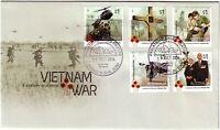 2016 FDC Australia. A Century of Service. Vietnam War. Various FDI postmark