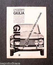 O486 - Advertising Pubblicità - 1964 - ALFA ROMEO GIULIA