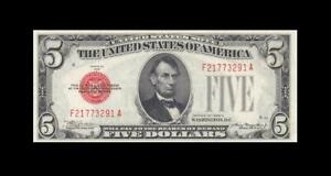 1928-C UNITED STATES NOTE FIVE DOLLARS $5 **RARE** (( GEM UNC ))