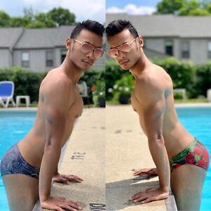 Maris Equi: Mens Swim Brief Rose Bundle. Speedo Style Cut. Mankini Bikini Goth