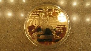 Mark McGwire St Louis Cardinals Highland Mint 3.5 inch Gold Plate