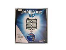 F-FAMILYKIT-3D Occhiali 3D Attivi Samsung (x4 pezzi) SENZA disco Blu-Ray 3D