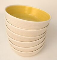 6 ~ Vintage MCM Franciscan Earthenware Hacienda Gold Soup/Cereal Bowls