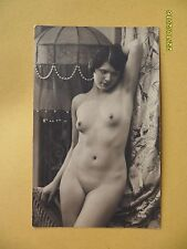 Original French 1910's-1920's Postcard Nude Risque Pretty Lady Front Pose #79