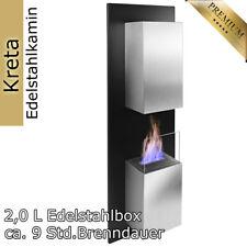 RS Trade Kreta Bio-Ethanol Wand-Kamin - Edelstahl