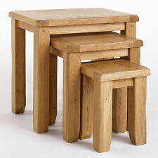Rustic Oak Nest of Tables | Solid Oak Living Room Furniture CB010