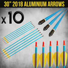 "10X 30"" ALUMINIUM ARROWS FOR COMPOUND OR RECURVE BOW TARGET ARCHERY NEW"