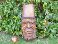 Bamboo Root Old Man Tree Spirit Wise Man Wooden Carving Mask Plaque.....