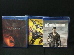 Exorcist the beginning, The road warrior, The lego Batman movie, Blu-ray lot 3