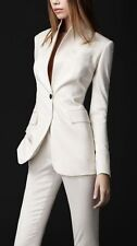 White Women Ladies Business Office Tuxedos Jacket+Pants Work Wear Suits Bespoke