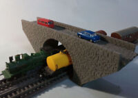 N GAUGE BRIDGE LEVEL OVERPASS STONE BRIDGE DOUBLE TRACK SCALE MODEL LASER CUT