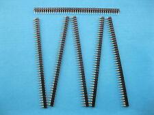 120 pcs 2.54mm L7.43mm 1x40 40pin Breakable Pin Header Male Single Row Strip