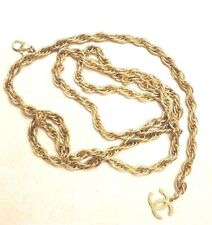 CHANEL GOLD TONE CHAIN CC BELT NECKLACE  EUC