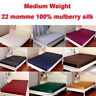 22mm Medium Weight 100% Mulberry Silk Fitted Bottom Sheets All Size Sisters-Silk