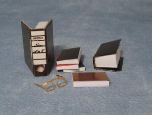 Glasses & Books, Dolls House Miniature Stationary