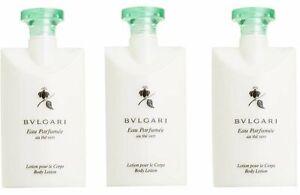 Bvlgari Au The Vert (Green Tea) Lotion - 2.5 Fluid Ounces Each - Set of 3