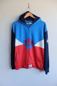 Adidas x Nigo Originals zip up hoody Jacket L blue red 2016 Colorado