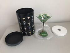 New listing Lolita Palmtini Martini Glass Hand Painted New w/Box Recipe