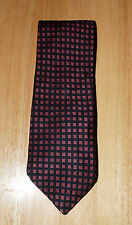 VTG Brooks Bros Makers Logo - Blue With Red Tie Necktie USA Made