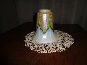 vintage quezal art glass shade