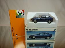 SCHUCO BMW 3 SERIES COMPACT  E36/5 - BLUE 1:43 - EXCELLENT IN DEALER BOX