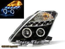 350Z Fairlady Z Z33 2003-2009 Angel-Eye LED Projector HEADLIGHT Black FOR NISSAN