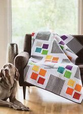 Gray Square Scramble Quilt Pattern Pieced CY