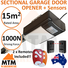 Sectional Garage Panel Door Opener 1000N Motor with Safety Sensors Photocells