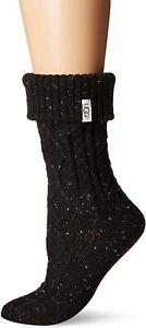 UGG 171759 Womens Sienna Soft Short Rainboot Sock Black Size One Size
