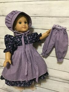 Little house on the Prairie handmade doll outfit  to fit American girl dolls