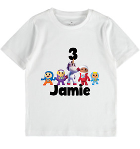 Go jetters personalised tshirt boys toddler tops name birthday gift girls tee