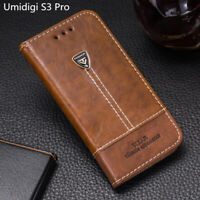 For Umidigi S3 Pro S3Pro Flip Wallet Pu Leather Phone Case 6.3'' Back Cover Skin