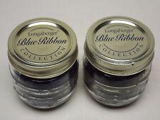 Longaberger Set of 2 Blue Ribbon Half Pint Berry Canning Jar Candles