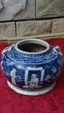 "ANTIQUE17c- 18c CHINESE BLUE&WHITE ""THREE FRIENDS OF WINTER"" W/DRAGON BRUSH POT"