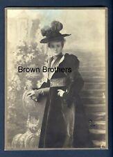 """1914 Broadway Actress Maude Adams """"Masked Ball"""" Oversized Cabinet Mounted Photo"""