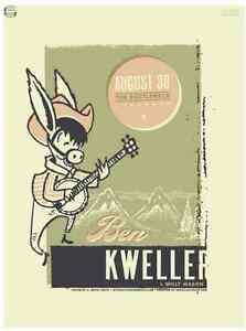 Ben Kweller Gig Poster, Lawrence 2007 (Original Silkscreen) 18 x 24' Print